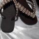 chinelos bordados